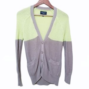 American Eagle Color Block Slouchy Cardigan XS